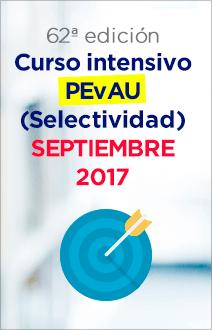 Curso intensivo PEvAU (Selectividad) septiembre 2017