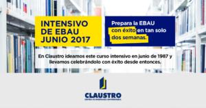 Curso intensivo EBAU (nueva selectividad) junio 2017 - claustro