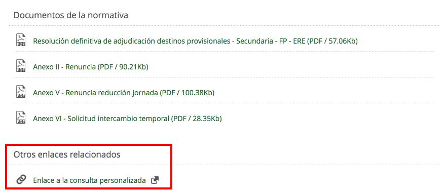 Publicada adjudicación definitiva de Secundaria, FP y ERE para el curso 2016-2017