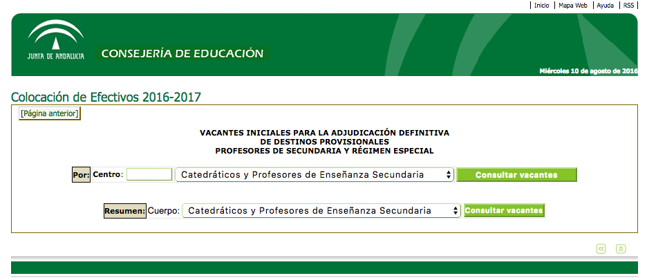 Adjudicacion de docentes 2016 for Vacantes docentes 2016