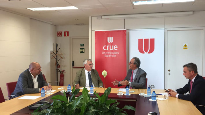 Ramírez de Arellano se reunió con el presidente de la Conferencia de Rectores de las Universidades Españolas.