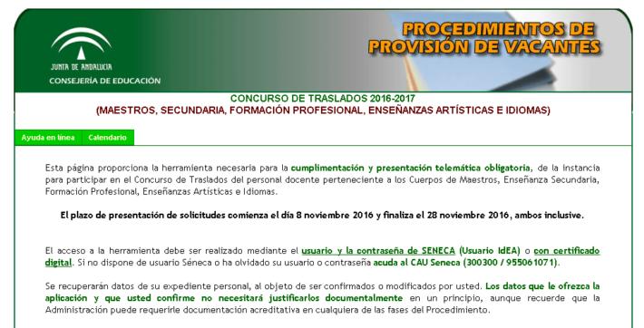 Comienza plazo solicitudes concurso traslados del personal docente. Andalucía