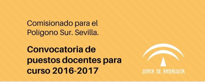 Convocatoria de puestos docentes para el Comisionado del Polígono Sur (Sevilla)