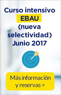 Curso intensivo EBAU (nueva selectividad) junio 2017