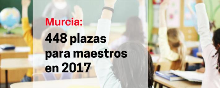 Murcia convocará 448 plazas para maestros en 2017