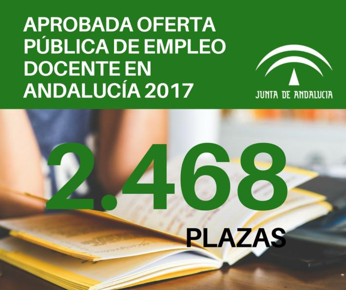 Andalucía aprueba la mayor oferta pública docente de España