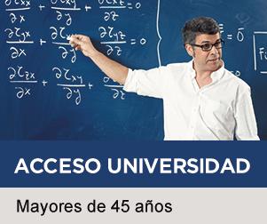 Acceso a la Universidad para mayores de 45 años - Claustro