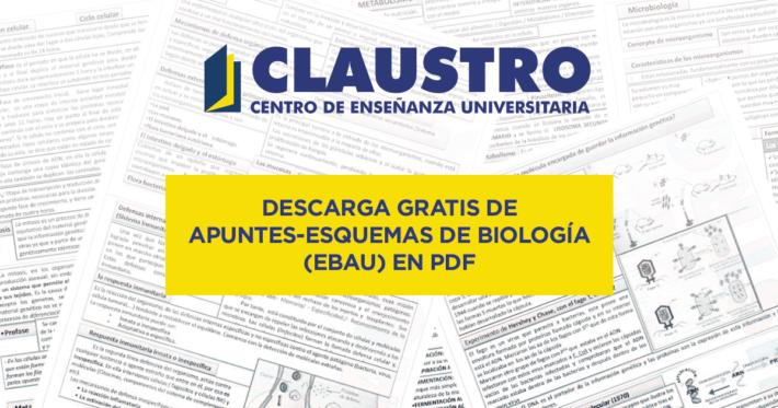 Descarga gratis de apuntes-esquemas de Biología (EBAU) en PDF
