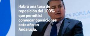El Gobierno fijará una tasa de reposición del 100% que permitirá convocar oposiciones este año en Andalucía