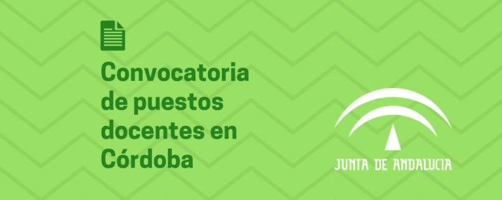[Córdoba] Convocatoria de puestos docentes para diferentes programas educativos