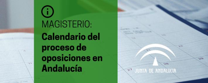 Calendario orientativo del procedimiento selectivo del cuerpo de maestros en Andalucía 2017