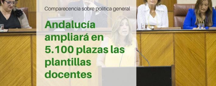 Comparecencia de la presidenta de la Junta de Andalucía, Susana Díaz, en el Parlamento sobre política general
