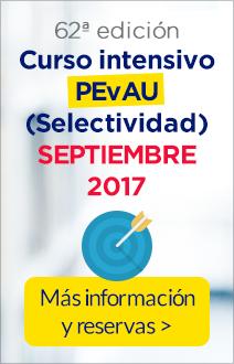 Curso intensivo PEvAU (Selectividad) de septiembre