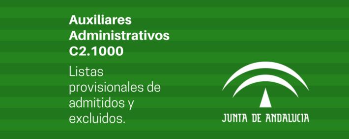 Publicado listado provisional de admitidos y excluidas del C2.1000 (Cuerpo Auxiliares Administrativos Andalucía)