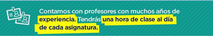 Contamos con profesores con mucho años de experiencia.