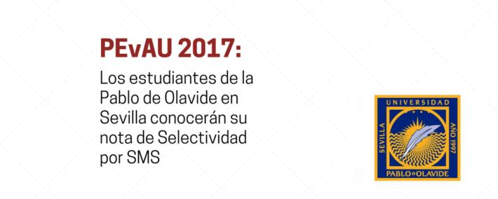 Los estudiantes de la UPO en Sevilla conocerán su nota de Selectividad por SMS