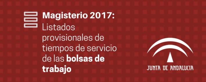 Oposiciones Maestros 2017: listados provisionales de tiempos de servicio de las bolsas de trabajo - Academia Claustro