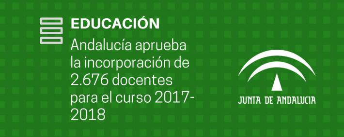 Andalucía aprueba la incorporación de 2.676 docentes el próximo curso en centros públicos - Academia Claustro