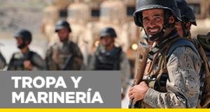 Oposiciones a militar de Tropa y Marinería. Te ofrecemos más de 10.000 preguntas para que tu preparación sea la más completa. Academia Claustro.