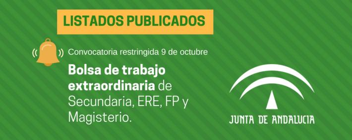 Andalucía: publicada lista provisional de admitidos en la convocatoria restringida de 9 de octubre - Academia Claustro