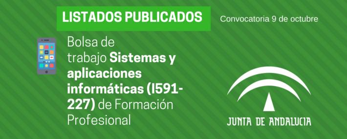 Andalucía: publicada lista provisional bolsa de trabajo de 9 de octubre - FP Sistemas y aplicaciones informáticas (I591-227) - Academia Claustro