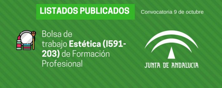 FP Estética (I591-203): lista admitidos bolsa de trabajo de 9 de octubre (Andalucía) - Academia Claustro