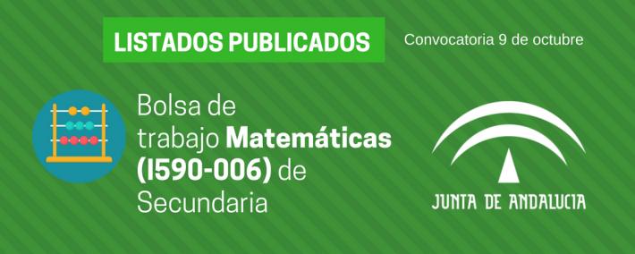 Matemáticas (I590-006): lista admitidos bolsa de trabajo de 9 de octubre (Andalucía) - Academia CLAUSTRO