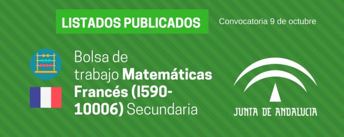 Matemáticas Francés (I590-10006): lista admitidos bolsa de trabajo de 9 de octubre (Andalucía) - Academia CLAUSTRO