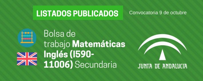 Matemáticas Inglés (I590-11006): lista admitidos bolsa de trabajo de 9 de octubre (Andalucía) - Academia CLAUSTRO
