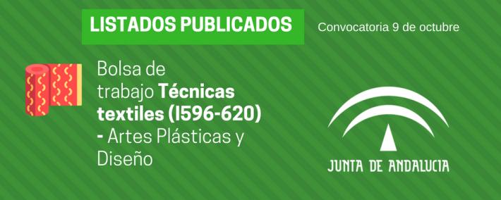 Técnicas textiles (I596-620): lista admitidos bolsa de trabajo de 9 de octubre (Andalucía) - Academia CLAUSTRO