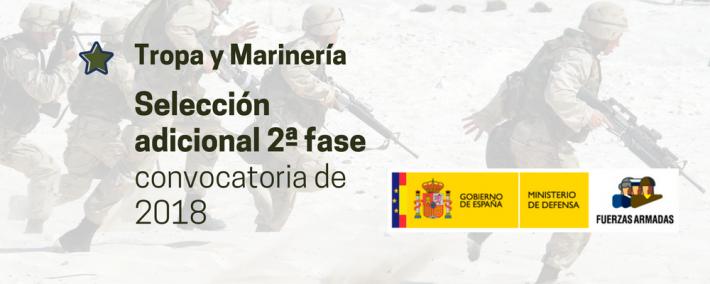 Selección adicional 2ª fase de la convocatoria de Tropa y Marinería de 2018 - Academia CLAUSTRO