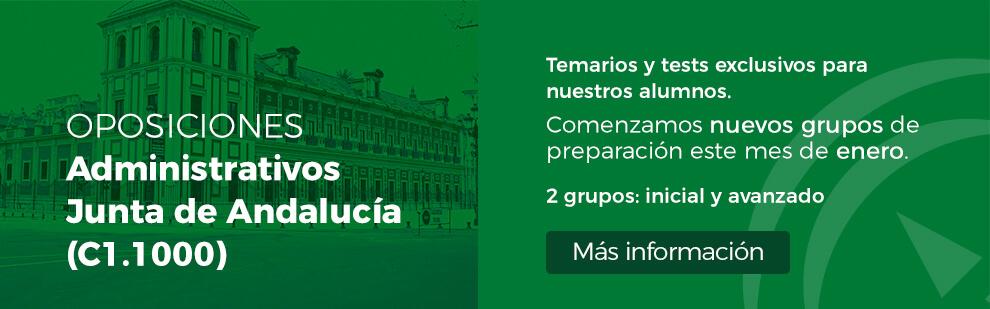 Cursos de Oposiciones Administrativos de la Junta de Andalucía (C1.1000) - Academia CLAUSTRO