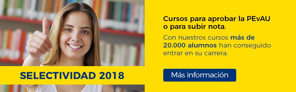 Cursos de preparación para Selectividad / PEvAU 2018 en la Academia CLAUSTRO en Sevilla