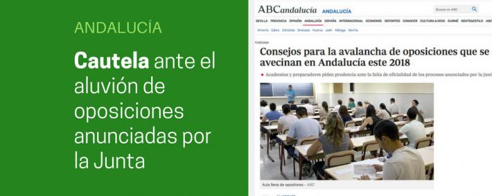 Academias piden prudencia ante la avalancha de oposiciones anunciadas por la Junta de Andalucía - Academia CLAUSTRO