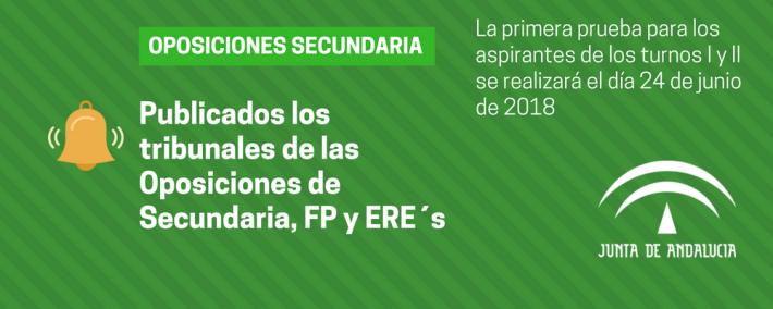 Consulta los tribunales de las Oposiciones de Secundaria, FP y ERE´s [Andalucía] - Academia CLAUSTRO