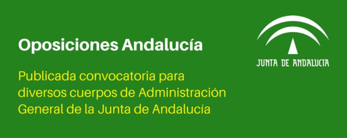Convocadas oposiciones para varios cuerpos de la Administración general de la Junta de Andalucía