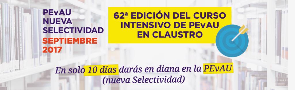 Curso intensivo PEvAU (Selectividad) de septiembre - Academia Claustro