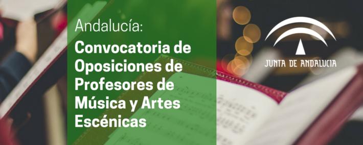 Convocatoria de oposiciones de Profesores de Música y Artes Escénicas