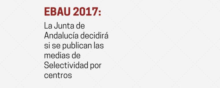 Las universidades dejan en manos de la Junta de Andalucía la decisión de si se publican las medias de Selectividad por centros