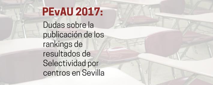 La Universidad de Sevilla estudia si publica o no el ranking de Selectividad por centro - Academia Claustro