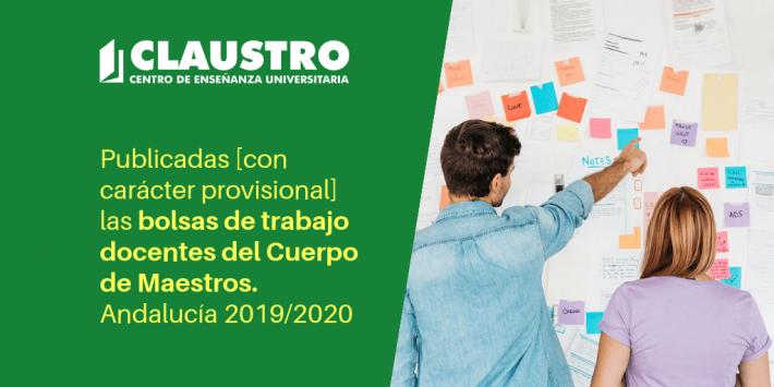 Información sobre las bolsas de trabajo de Maestros en Andalucía. Curso 2019-2020 - Academia CLAUSTRO Sevilla
