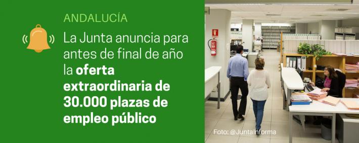 Andalucía aprobará oferta de empleo extraordinaria con más de 30.000 plazas antes de final de año - Academia CLAUSTRO