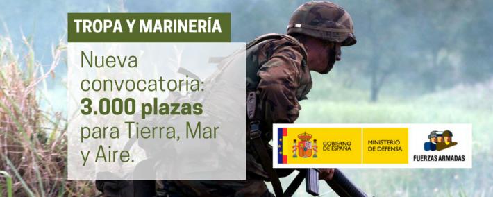 Nueva convocatoria para militar de Tropa y Marinería 2017 - Academia CLAUSTRO