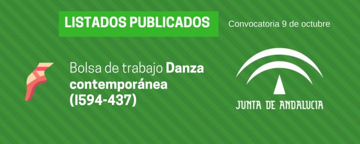 Danza contemporánea (I594-437): lista admitidos bolsa de trabajo de 9 de octubre (Andalucía) - Academia CLAUSTRO