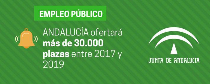 Andalucía ofertará más de 30.000 plazas de empleo público entre 2017 y 2019 - Academia CLAUSTRO