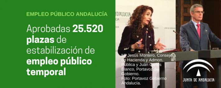 Aprobada convocatoria de 25.520 plazas de estabilización de empleo público temporal - Andalucía - Academia CLAUSTRO