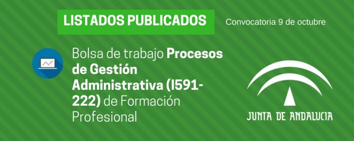 FP Procesos de Gestión Administrativa (I591-222): lista admitidos bolsa de trabajo de 9 de octubre (Andalucía) - Academia CLAUSTRO