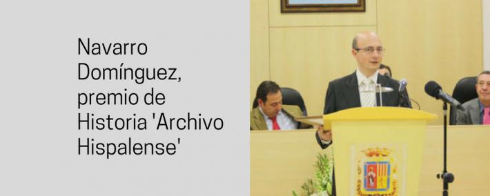 Navarro Domínguez, premio de Historia 'Archivo Hispalense' - Academia CLAUSTRO