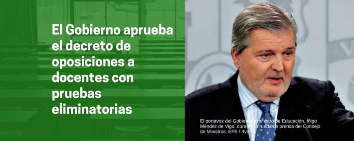 El Gobierno da luz verde al decreto sobre oposiciones a docente y mantiene las pruebas eliminatorias - Academia CLAUSTRO