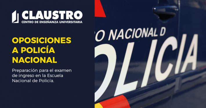 Preparación para el examen de ingreso en la Escuela Nacional de Policía - Academia CLAUSTRO en Sevilla